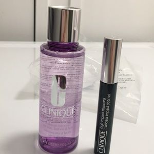 Clinique Makeup Remover and high impact mascara